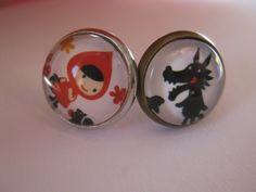 earrings oorbellen oorringen retro vintage  van flosken op DaWanda.com
