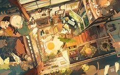 Discover the finest artists from animation, games, illustration and comics. Environment Concept Art, Environment Design, Cute Illustration, Digital Illustration, Storyboard, Grafiti, Cg Art, Anime Scenery, Kawaii Art