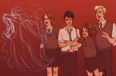 Teach us something please! by batcii. if the pevensie kids went to hogwarts.