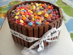 Kit Kat Cake topped with Smarties, Tooty Frooties and Jelly Tots by Ange's Cakes (Peterborough), via Flickr