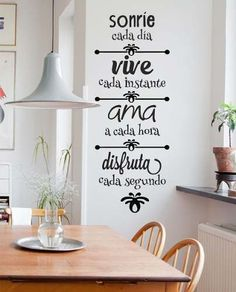 25 ideas para dar vida a tus paredes - Frases motivadoras para dar vida a tus paredes 25 ideas para dar vida a tus paredes - Home Design, Café Bar, Wall Decor, Room Decor, Lettering, My Room, Wall Stickers, Ideas Para, Sweet Home
