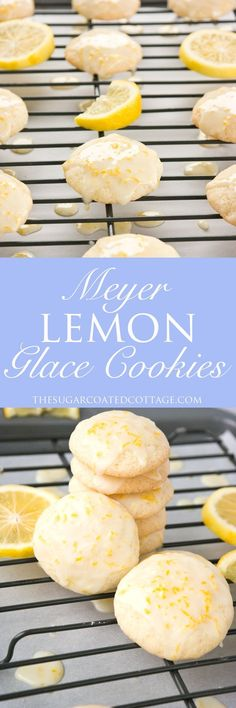 Meyer Lemon Glace Cookies