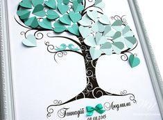 Wedding Guest Book Ideas - Mint Wedding Tree - Love birds - 3d tree - Modern alternative to traditional guestbooks