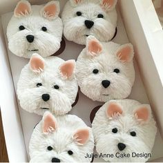 Dog cupcakes - Tap the pin for the most adorable pawtastic fur baby apparel! You'll love the dog clothes and cat clothes! Dog Cupcakes, Animal Cupcakes, Cupcake Cakes, Black Cupcakes, 3d Cakes, Westies, Westie Dog, Chihuahua Dogs, Decorated Cookies