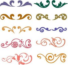 Free SVG Flourish | royal icing piping figures & patterns | royal icing design pattern |
