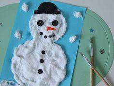Sneeuwverf maken & een sneeuwpop knutselen