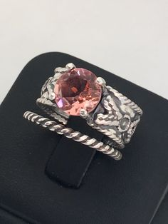 Enchanted garden collection! .925 Sterling silver handmade jewelry. AAA MORGANITE 💎💍 www.sdbijouxjewelry.etsy.com