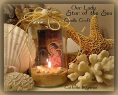 Catholic Inspired ~ Arts, Crafts, and Activities!: Our Lady Star of the Sea ~ Candle or Bottle Craft