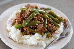 Authentic Barefeet In The Kitchen: Lebanese Beef and Green Beans, ,