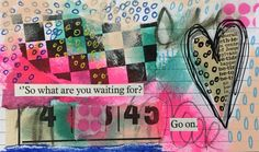 Cream Paint, Pink Bird, Index Cards, Project 365, Paper Hearts, Mail Art, Journal Pages, Scribble, Postage Stamps
