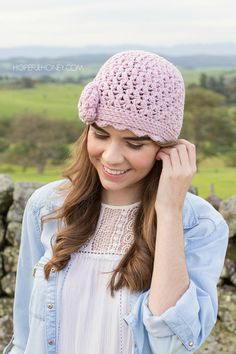 CROCHET PATTERN  Lilac & Lace Cloche Vintage Hat
