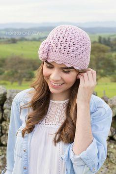 CROCHET PATTERN  Lilac & Lace Cloche Vintage Hat