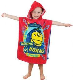 Chuggington hooded poncho towel Boy Birthday Parties, 2nd Birthday, Birthday Ideas, Chuggington Birthday, Kids Poncho, Train Party, Hooded Poncho, Swim Lessons, Toy Craft