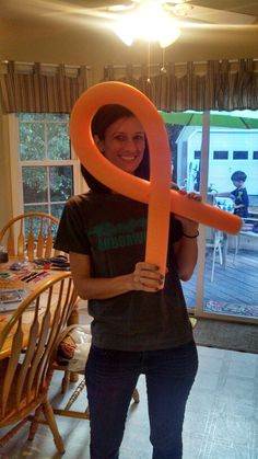 The Colors of Cancer made out of pool noodles, we are doing all the colors!!!