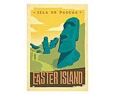 Stampa su carta Easter Island - 42x60 cm
