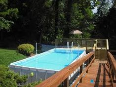 image result for deck around intex pool small swimming