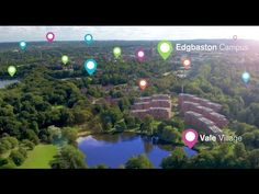 University of Birmingham drone campus tour - YouTube
