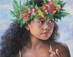 Hei Upoo 2014 sm Hawaiian Girls, Hawaiian Art, Vintage Hawaiian, Polynesian Art, Polynesian Culture, Tahitian Dance, Dance Art, Hula Dance, Acrylic Painting Inspiration