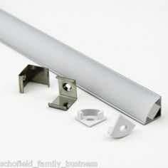 1m Aluminium LED strip light profile extrusion, diffused kitchen with 90cm LED