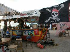 Guy's DriftWood Boat Bar, beach bar on Maho Beach in St. Martin.