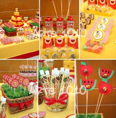 Arte 1010: Festa da Magali 2nd Birthday Party Themes, Barbie Party, Fruit Party, Flamingo Party, School Parties, Princess Party, Holidays And Events, Watermelon, Birthdays