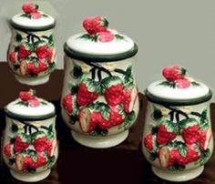 Strawberries in my kitchen on pinterest strawberry - Strawberry kitchen decorations ...