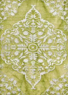 $756.00 Heritage Willow Bough/Bright Chartreuse Wool and Art Silk Rug