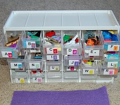 These are great for artic!  We encourage parents to collect their own items around the house for home practice and put in a lunch box.