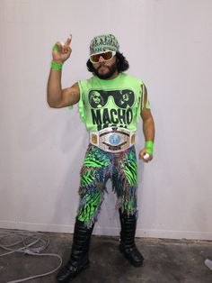 Diy macho man randy savage wrestler costume my stuff pinterest macho man randy savage solutioingenieria Gallery
