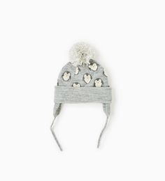 Image 1 of Penguin hat with pompom from Zara