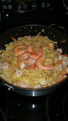 Seafood Linguini With White Wine Sauce