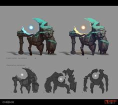 Creature designs I did for Chronos project by Gunfire Games in 2015