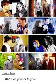 """""""We're all ghosts to you."""" - Clara Oswald, Hide (2013)"""