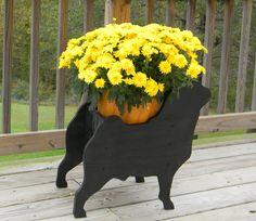 Black Pug Planter