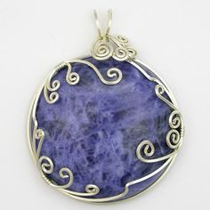 Handmade Jewelry - Sterling Silver Wire Wrapped Cabochon