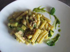 FORNELLI IN FIAMME: SEDANINI PASTA WITH PESTO TUNA AND ZUCCHINI (RECETTE AUSSI EN FRANCAIS) - Sedanini al pesto con tonno e zucchini