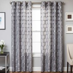 Rochelle Grommet Top Window Curtain Panel