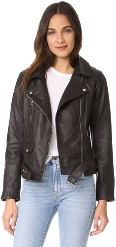Biker fashions. Disclosure: I'm an affiliate marketer. When you click on the link to the retailer, I earn a commission. Scotch & Soda/Maison Scotch Basic Leather Biker Jacket