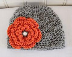 Crochet Girls Hat Baby Hat Toddler Hat Newborn by Kookstickers