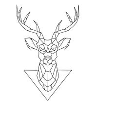 Deer tattoo geometric