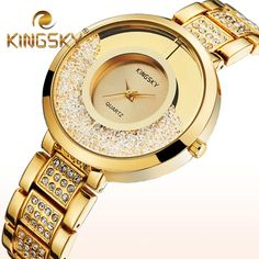 Sparkling  Rhinestone Faux Diamond Watch