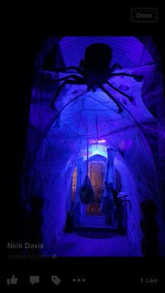 Spider tunnel Halloween Entryway, Casa Halloween, Halloween Outside, Halloween Spider, Halloween Birthday, Outdoor Halloween, Family Halloween, Halloween Projects, Halloween 2019