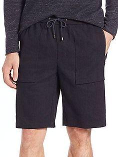 Vince Linen Flight Shorts - Coastal Blue - Size 3