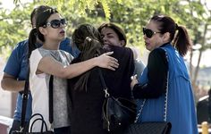 Family of passengers who were flying in the #EgyptAir plane that vanished from radar en route from #Paris to #Cairo comfort eachother as they wait outside a services hall at Cairo airport.  by Khaled Desouki AFP/Getty Images http://usat.ly/1qxvlej by usatoday