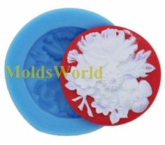 A322 Flower Silicone Silicon Mold Mould Making For Polymer Clay Craft Jewelry 35mm by MoldsWorld on Etsy https://www.etsy.com/listing/154212411/a322-flower-silicone-silicon-mold-mould