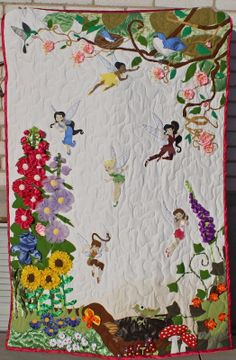 3D Tinkerbell quilt so cute i want to make now!