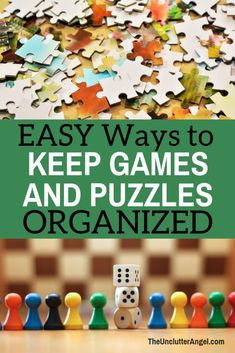 Hate losing pieces to your games and puzzles? Here are some EASY Ways to KEEP Your Games and Puzzles Organized! Nothing like planning a family game night  . . . . AND having everything you need! Puzzle Organization, Puzzle Storage, Organization Ideas, Storage Ideas, Family Game Night, Family Games, Family Activities, Puzzel Games, Fun Games