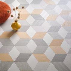 Cube-It Geometric Cushioned Vinyl Flooring Sheet 'Cubes 054'