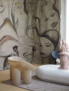 Inside the offices of Vogue Italia - Faye Toogood - My favourite highlights and trends from Milan Design Week 2018 Interior Design Classes, 3d Interior Design, Luxury Homes Interior, Contemporary Interior Design, Luxury Home Decor, Interior Decorating, 3d Design, Design Ideas, Contemporary Furniture