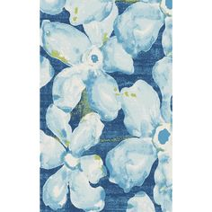 Fusion Floral Watercolor Blue/Grey 7 ft. 10 in. x 10 ft. 10 in. Indoor Area Rug